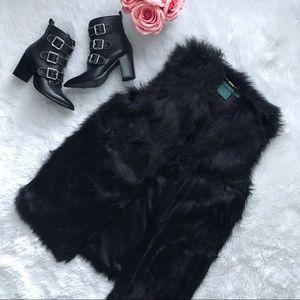 LAUREN RALPH LAUREN faux fur vest